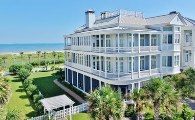 Photo for Large Beachfront home with Great Architectural Details