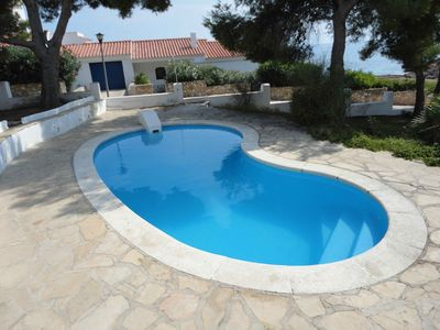 Photo for FAMILY HOUSE WITH DIRECT ACCES TO THE BEACH, SWIMING-POOL, BBQ AND WIFI_PISCINA