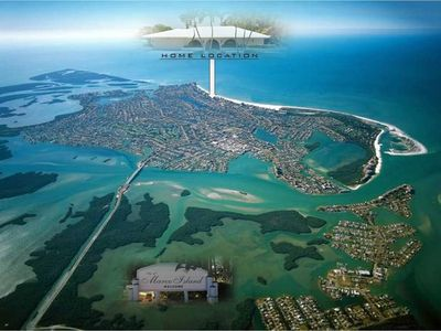 Marco island Aerial View with Home Location