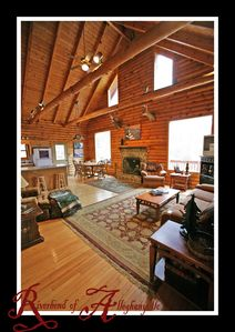 Photo for Rushing River 3 Story Mountain Cabin Paradise on 20 Acres!