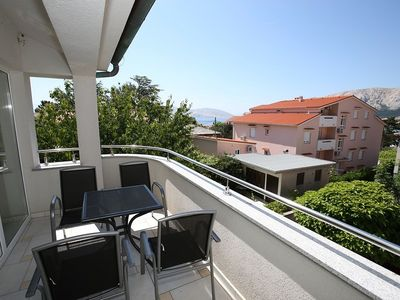 Photo for View to the sea and a mountain panorama - Apartment Ines 6