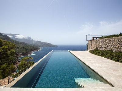 Photo for Spectacular villa with stunning views to the mountains and sea