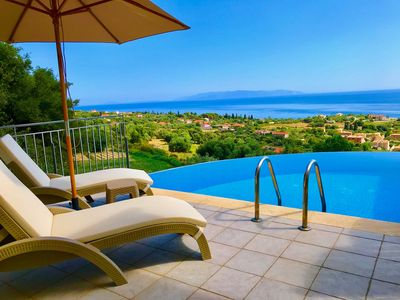 Photo for Stylish Villa with Stunning Panoramic Sea Views & Private Pool