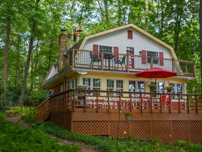 Photo for Charming lakefront home with great outdoor space!