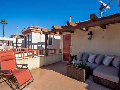 Photo for Spacious beach home just blocks to sand, outdoor patio for relaxing!