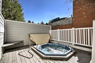 Look forward to relaxing in the shared hot tub situated within the complex.