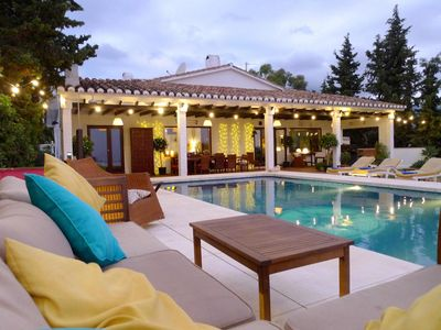 Photo for Villa with Private Infinity Pool, with 360 degree Sea and Mountain Views