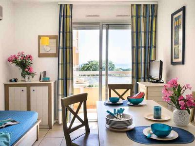 Photo for Pierre & Vacances Residence La Rostagne *** - Standard 4 Persons Studio - Sea View