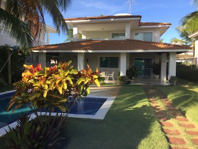 Photo for Beautiful house, peace and tranquility in front of the Beach of Busca Vida!