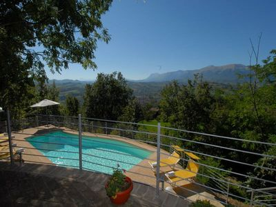 Photo for Villa with private pool in front of the Sibillini Mountains
