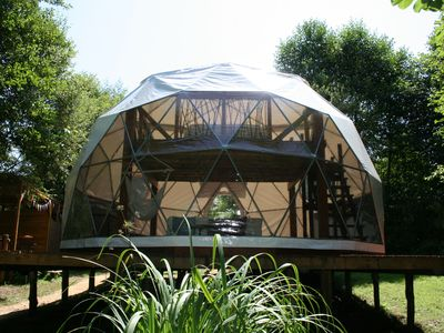 Photo for Geodesic Dome  with removeable roof to sleep under the stars.