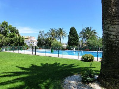 Photo for APARTMENT IN MAR DEL SUR. WIFI, AC, POOL AND PARKING.