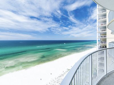 Photo for BeachFRONT! Pool + Hot Tub☀Inspected & Disinfected☀1BR+Bunks Twin Palms 1403
