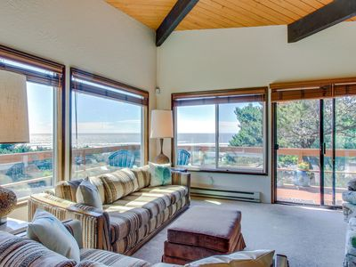 Photo for Sunny home w/ beautiful ocean views and private hot tub!