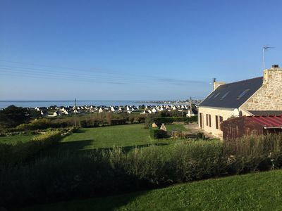 Photo for Sea view on Audierne bay, house 6 pers 500 m from the beach TV / SAT / Internet