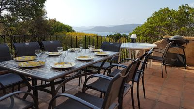 Photo for Large villa of charm in Propriano: superb view of the sea and the hills