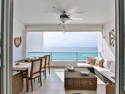 Photo for Luxury Beachfront w/ 80 Inch SmartTV, Full Kitchen