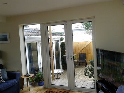 Dalkey Apartment No.2 French Doors from Lounge Area