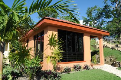 The warm tropical caribbean design blends beautifully in the surrounding jungle.