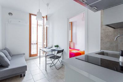 Luminous apartment with little terace