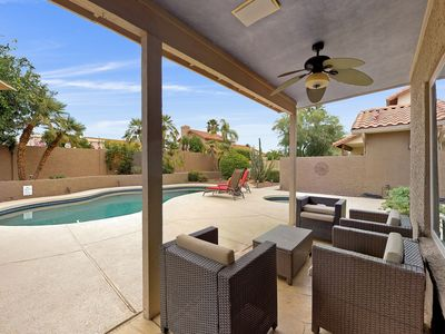 Photo for Beautiful Scottsdale home w/ a private pool, firepit, & patio