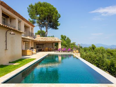 Photo for Stunning Sea Views - Luxury architect designed villa, heated pool & tennis court