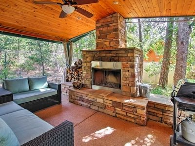 Photo for Pine House on Wooded Lot w/ Covered Patio & Deck!