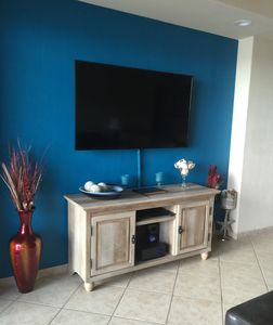 "60"" TV in Living Room with Dvd/Blueray player and Bluetooth CD/Stereo"