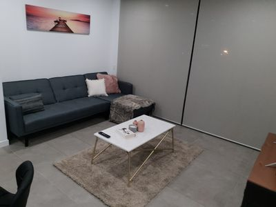 Photo for Summit By the Bay - Luxury Apartment - King Bed + Sofa Bed
