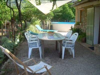 Photo for Casita orchard with pool and views of the Sierra de Tramontana with free WIFI