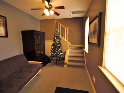 Photo for Charming 2 story efficiency suite with full kitchen. Minutes from GSP sleeps 3-4