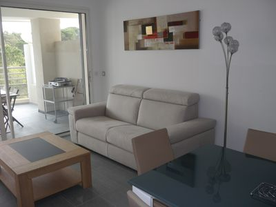 Photo for Very beautiful new T3 apartment 200 meters from Calvi Beach