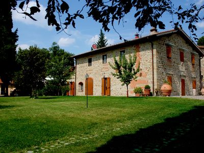 Photo for For family in stone Farmhouse near Florence with pool and garden