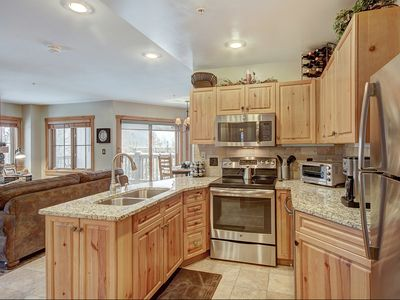 Newly Remodeled Corner Unit in River Run - Walk to the Slopes!