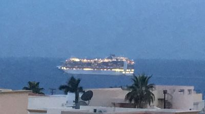 Watch cruise ships come in and out from the roof top