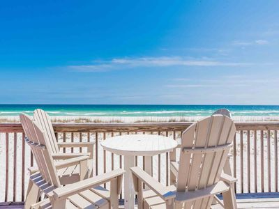 Photo for Beautiful Beach Front Home Directly On Sand in Pensacola Beach! Private Oversized Balcony! Great for Large Families and Events