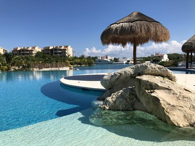 Photo for BLISS Two Bedroom Waterfront Condo, Puerto Aventuras, Riviera Maya