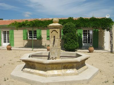 Photo for quiet villa at the foot of the Alpilles
