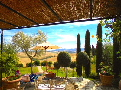 Photo for Luxury Villa Cottage San Gimignano,4, Wifi. Panoramic Pool, Hill top city view!