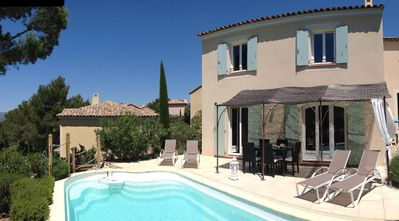 Photo for Villa on the golf with private swimming pool, air conditioned, open view