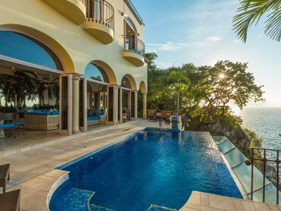 Photo for Spoil yourself - Luxury, Oceanfront, Fully Staffed, 6 Bedroom Villa