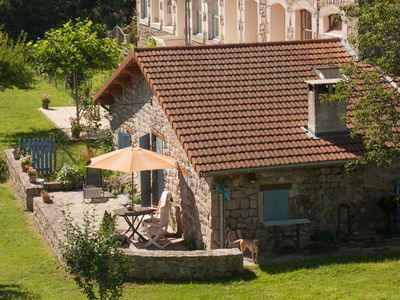 Photo for Romantic cottage(Gîte) in the hills of the medieval village Désaignes.