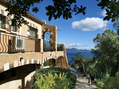 Photo for Stunning villa in magnificent location, with swimming pool and panoramic views across the sea!
