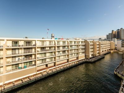 Photo for Top-floor bayside condo w/private balcony and shared pool!