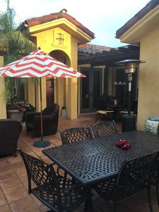 Outdoor patio for al fresco dining and relaxing.