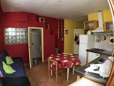 Photo for SITGES MOST CENTRAL CENTER, BEACH 5 MINUTS. FREE WIFI. QUIET apartment.