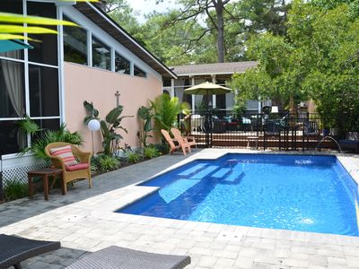 Photo for Key West Style Family Retreat, In Ground Pool, Lush Tropical Landscape