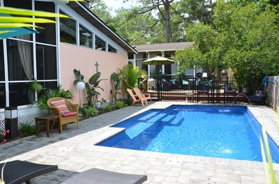 Pool area in front of 3 br villa