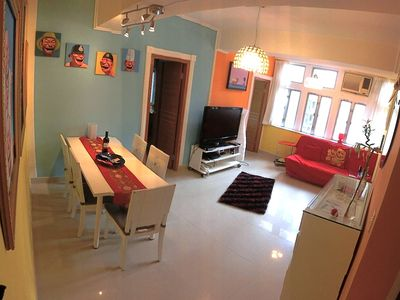 Photo for ULTRA COOL—5 ROOMS—MTR+TRAM+buses—HUGE living room—kitchen—Washer/Dryer