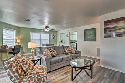 Relaxing days await 10 guests at this Virginia Beach vacation rental condo.